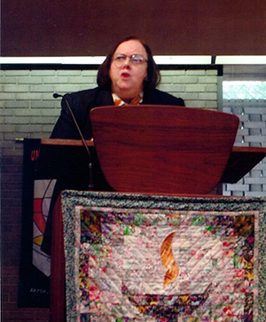 Rev. Mary Moore in the Pulpit