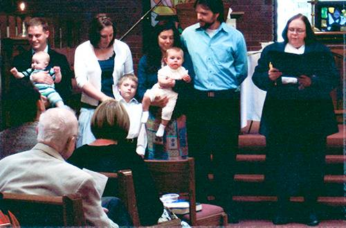 Rev. Mary Moore and Child Dedications\